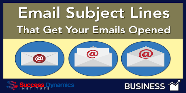 Email Subject Lines | Success Dynamics Institute